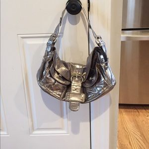 Tano New York silver shoulder bag- leather